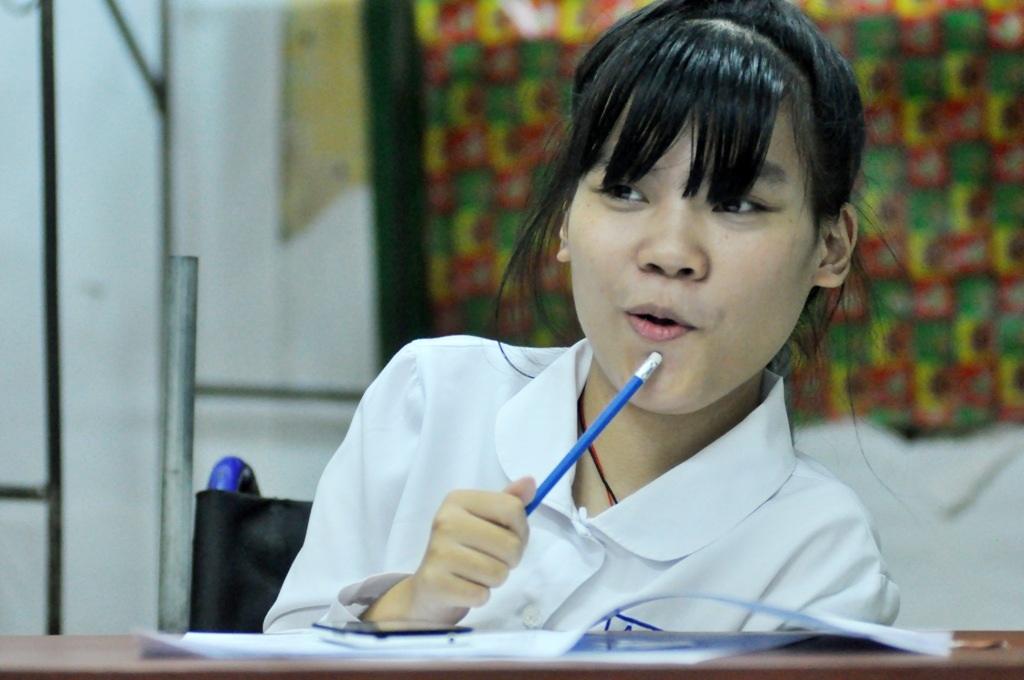 Hà An cho biết em ước mơ trở thành cô giáo dạy tiếng Anh