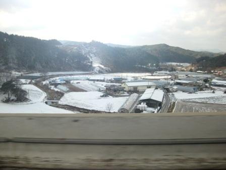Đến Hàn Quốc vào mùa tuyết trắng, du khách sẽ ngắm cảnh tuyết rơi phủ dầy bên đường