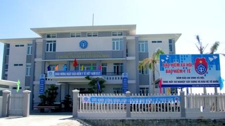 Tuyên truyền trực quang dưới các hình thức tại trụ sở BHXH huyện Thăng Bình