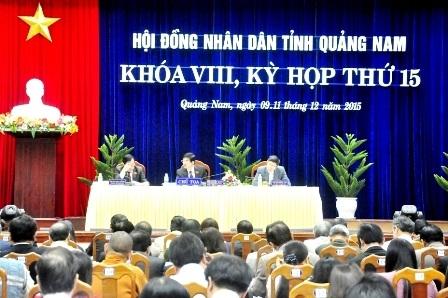 Kỳ họp thứ 15 HĐND tỉnh Quảng Nam khóa VIII đã miễn nhiệm và bầu nhiều chức danh quan trọng