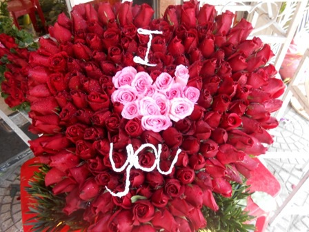 Kết hoa hình trái tim được ưa chuộng