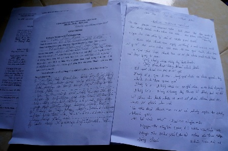 Biên bản giải trình với Thanh tra Sở Y tế của ông Quốc và bà Tâm