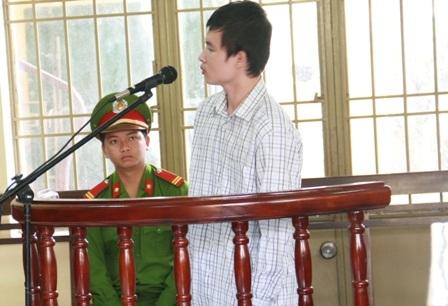 Bị cáo Phúc tại phiên tòa
