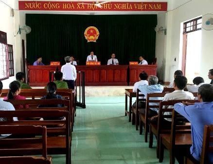 Phiên tòa xét xử bị cáo Nguyễn Cường