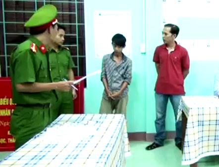 Cơ quan công an đọc lệnh bắt Nguyễn Quốc Vương