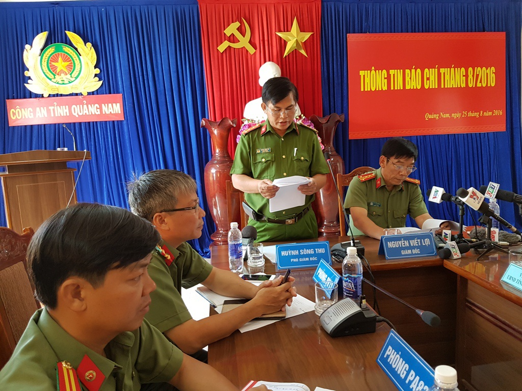 Công an tỉnh Quảng Nam công bố vụ án quán bar Diamond vào chiều ngày 25/8