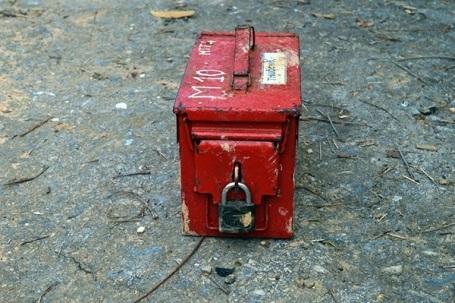 Thùng chứa 18 thỏi thuốc nổ bị mất