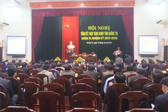 Hội nghị tổng kết HĐND tỉnh Quảng Trị, nhiệm kỳ 2011 - 2016