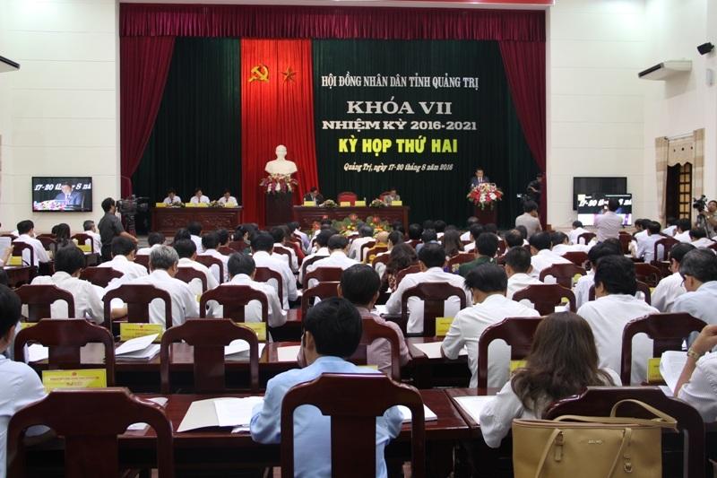 Kỳ họp thứ 2 HĐND tỉnh Quảng Trị nhóm họp ngày đầu tiên