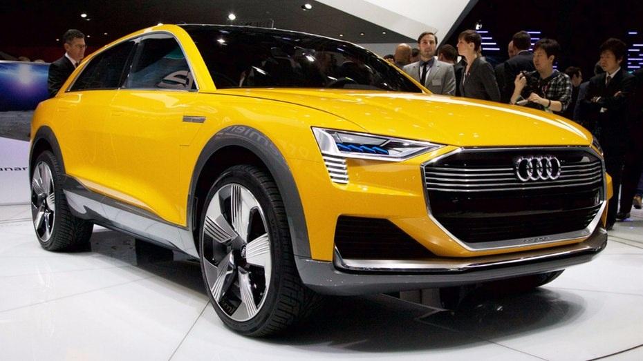 Audi mang tới triển lãm chiếc xe concept mang tên H-Tron chạynhiên liệu hydro và động cơ năng lượng điện.