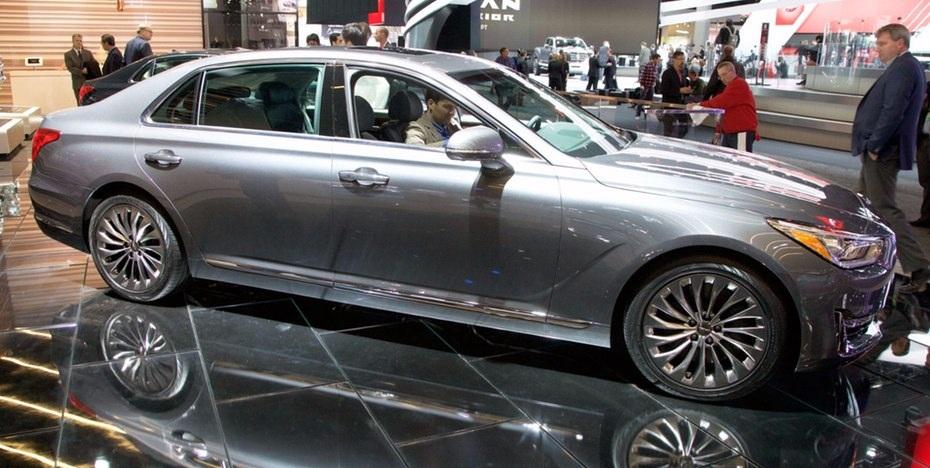 G90 là sản phẩm đầu tiên thuộc thương hiệu xe sang Genesis của Hyundai