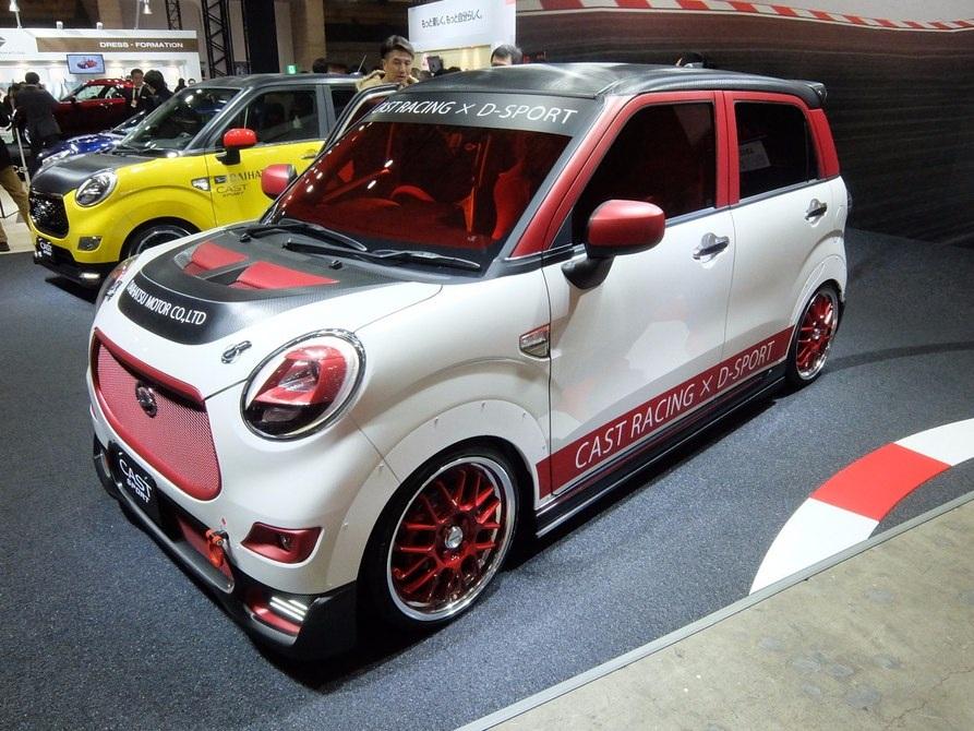 Một sản phẩm mới của Daihatsu mang tên CAST SPORT RACE với gầm thấp và dùng lốp xe đua