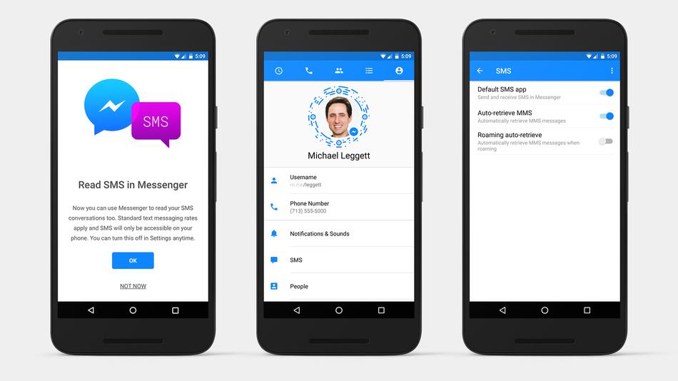 Người dùng Android đã có thể nhắn tin SMS bằng Facebook Messenger - 1