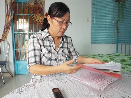 Bà Trần Thị Hạ bức xúc trước sự việc