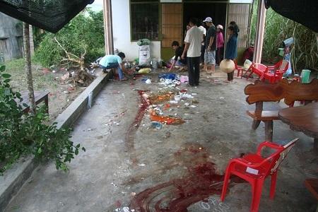 Vụ việc khiến 5 người dân đang ăn uống trong quán nhập viện cấp cứu, gồm cả Bí thư Đảng ủy xã Ninh Tây (Ảnh: H.X)