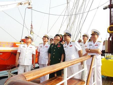 Tàu được biên chế về biên đội tàu huấn luyện thực hành thuộc Học viện Hải quân ngày 22/2 nhằm huấn luyện, rèn luyện thủy nghiệp cơ bản, kỹ năng đi biển cho thủy thủ viễn dương và hoạt động đường dài; tham gia các hoạt động giao lưu hải quân và hàng hải quốc tế