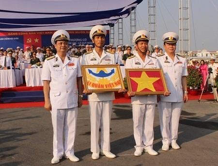 Lễ Thượng cờ diễn ra sau hơn 1 tháng tàu buồm 286-Lê Quý Đôn từ Ba Lan về Nha Trang.