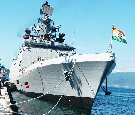 Tàu Hải quân Ấn Độ đến thăm Cam Ranh sau tàu hải quân các nước như Singapore, Nhật Bản, Pháp