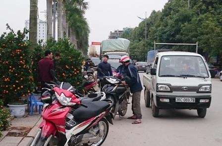 Nhiều điểm bán hàng để thu hút người mua còn chuẩn bị sẵn dịch vụ vận chuyển về tận nhà. Tùy vào loại cây, hoa có thể vận chuyển bằng xe máy hoặc xe tải nhỏ