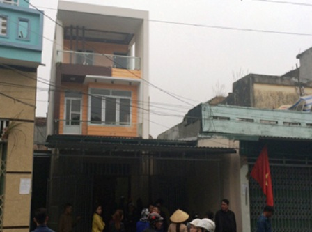 Căn nhà của gia đình ông Trần Văn Hải và bà Văn Thị Thắng