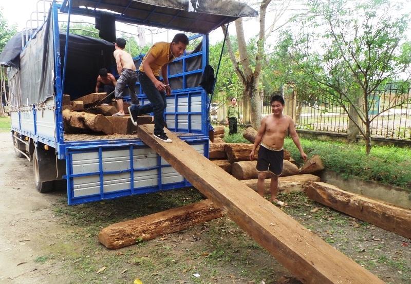 Chiếc xe chở gỗ này đã lọt qua nhiều trạm kiểm tra lâm sản trên đường