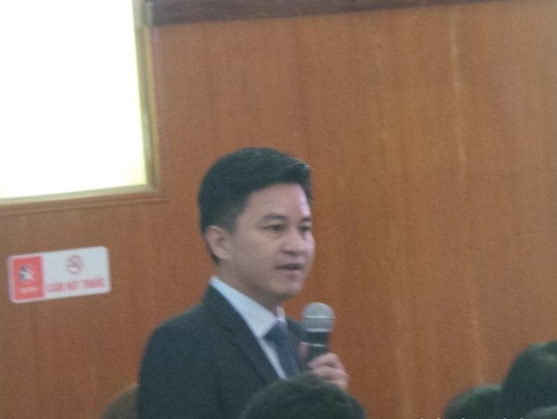 Ông Đào Vũ Việt - Giám đốc SXD Thanh Hóa
