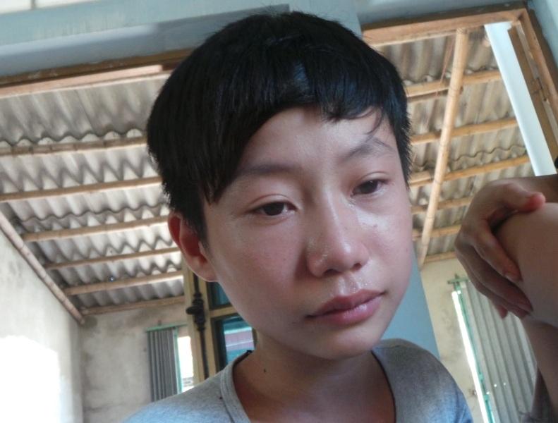 Em Thiều Văn Linh, con trai út của chị Liên cũng bị bệnh tim