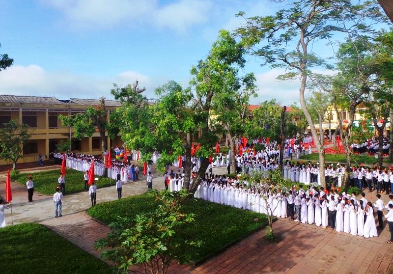 Trường THPT Quảng Xương 1 - nơi em Nguyên theo học