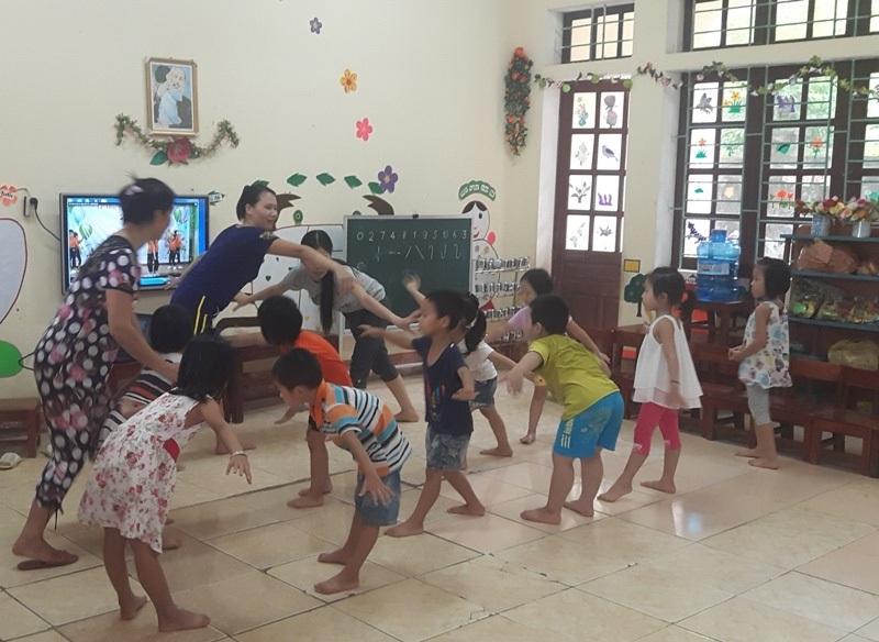 Nhiều trường Mầm non trên địa bàn huyện Yên Định chưa tổ chức bán trú cho các cháu vì thiếu giáo viên