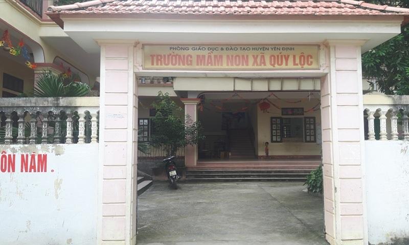 Trường Mầm non Qúy Lộc thiếu hơn 10 giáo viên, nhân viên