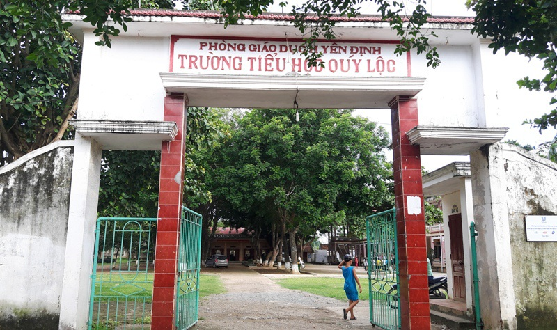 Trường Tiểu học Qúy Lộc cũng khốn khổ vì thiếu giáo viên đầu năm học