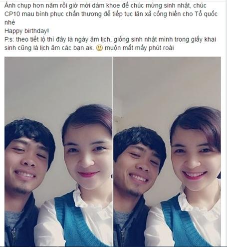 Mới đây, Nguyễn Thị Hằng cũng lên tiếng động viên Công Phượng khi anh gặp phải chấn thương (Ảnh FB nhân vật).