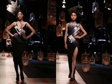 Cảm hứng Nhật Bản cũng được khắc họa trong BST của NTK Cao Minh Tiến. Lần đầu tiên giới thiệu BST Haute Couture đã mang về cho Cao Minh Tiến một vị trí vững vàng trong làng thiết kế.