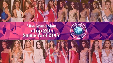 Những gương mặt lọt Top 20 Miss Grand Slam 2015.