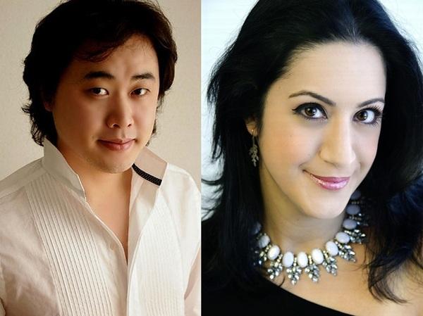 Ji-Min Park (đảm nhiệm vai nam chính Rodolfo) và Natalie Aroyan (đảm nhiệm vai nữ chính Mimì).