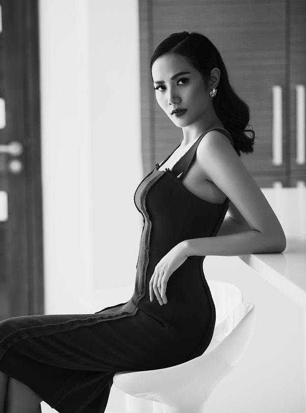 Hoa hậu Đông Nam Á Diệu Linh lạnh lùng khoe đường cong - 6