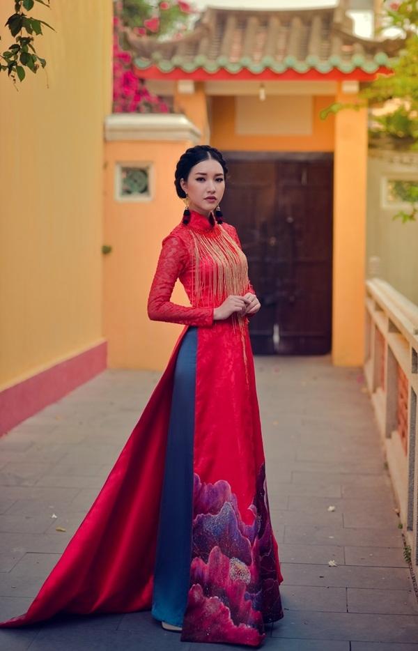 Hoa khôi Du lịch Huế 2016 làm nàng thơ với áo dài thướt tha - 11