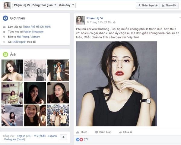 Facebook giả mạo đăng những dòng trạng thái mùi mẫn khiến nhiều người hiểu lầm.