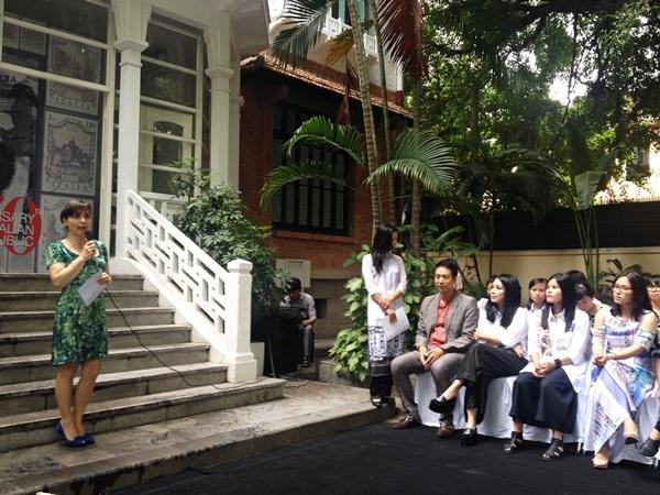 Bà Cecilia Piccioni - đại sứ Ý phát biểu tại buổi họp báo sáng 30/5.