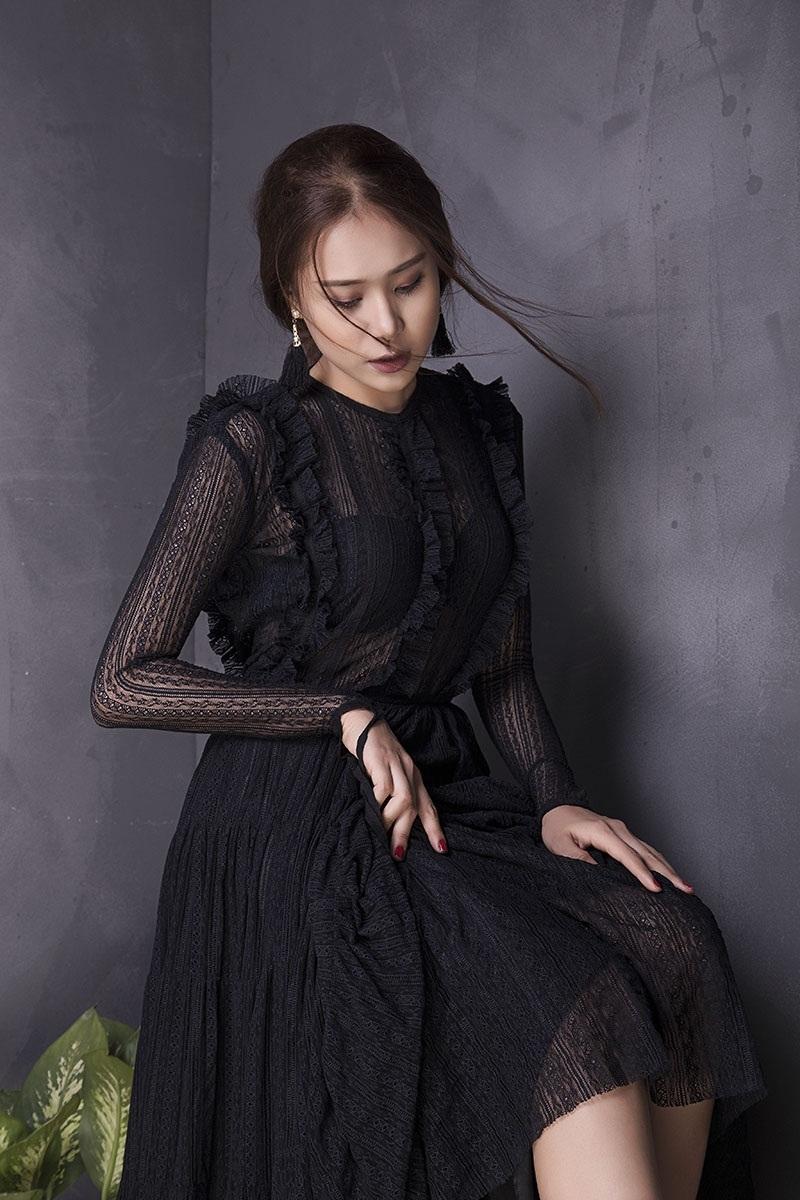 Miss Teen Hồ Bích Trâm đẹp mơ màng với đầm voan bó sát - 3