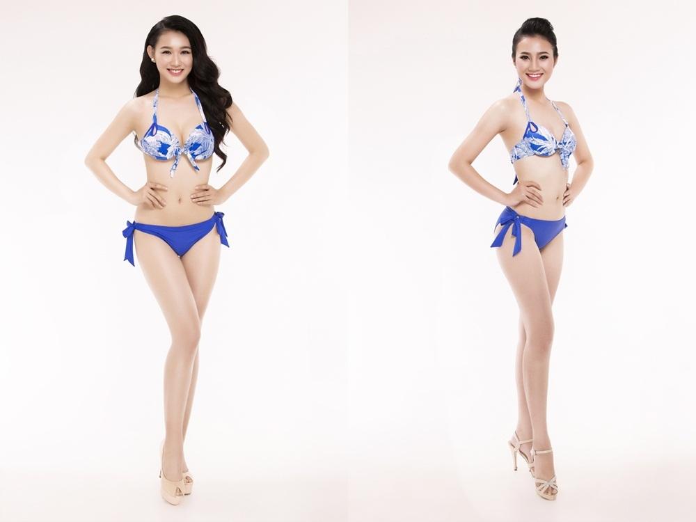 Từ trái qua phải: SBD 118 Nguyễn Thuỳ Linh - SBD 128 Hoàng Thị Quỳnh Loan.