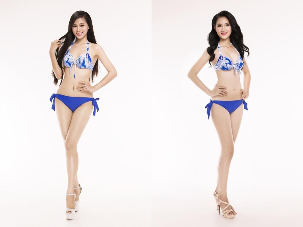 Từ trái qua phải SBD 206 Hoàng Thị Phương Thảo - SBD 218 Trần Ngô Thu Thảo.