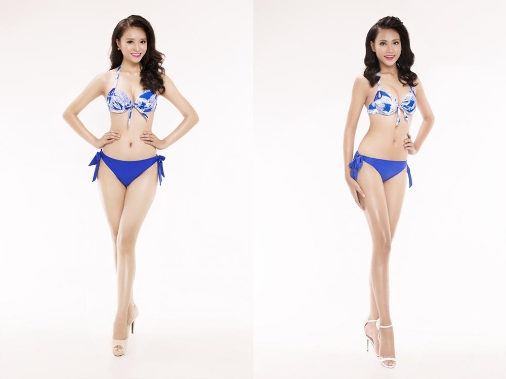 Từ trái qua phải: SBD 242 Nguyễn Thị Như Thuỷ - SBD 255 Trần Thị Thuỳ Trang.