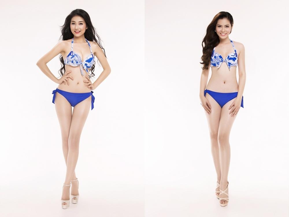 Từ trái qua phải: SBD 293 Bùi Nữ Kiều Vỹ - SBD 299 Trần Thị Phương Thảo.