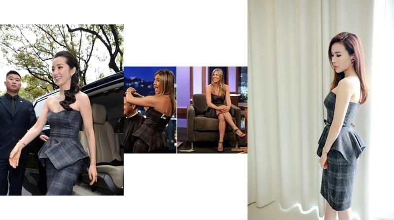 Cuộc đối mặt giữa cô cùng hai người đẹp Jenifer Aniston và Lý Băng Băng thật sự đẹp mắt và ấn tượng trong thiết kế của thương hiệu Gucci.