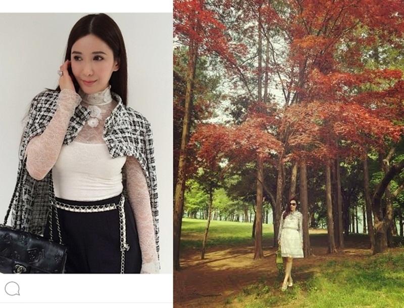 Quý cô Hà Thành không hề kém cạnh nữ đại gia Singapore Jamie Chua trong một thiết kế đắt tiền của Chanel.