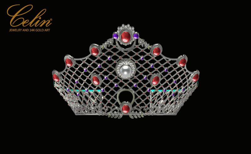 """Chiếc vương miện """"Lady in the Red"""" được thiết kế tỉ mỉ và đầy tinh xảo."""