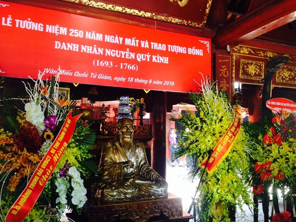 Long trọng lễ tưởng niệm 250 năm ngày mất danh nhân Nguyễn Quý Kính - 1