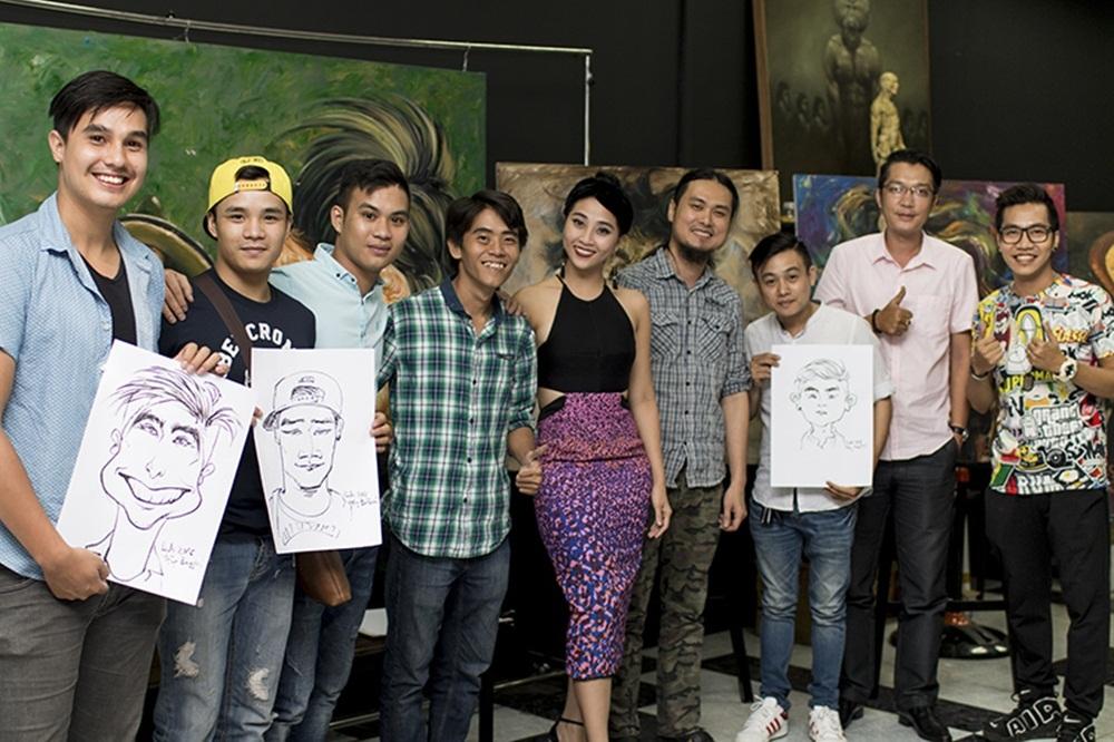 Nhạc sỹ Hoàng Rapper, diễn viên Baggio Saetti, MC Liêu Hà Trinh, nhóm kịch X-Pro cùng hoạ sĩ Phan Vũ Linh và Định Nguyễn.