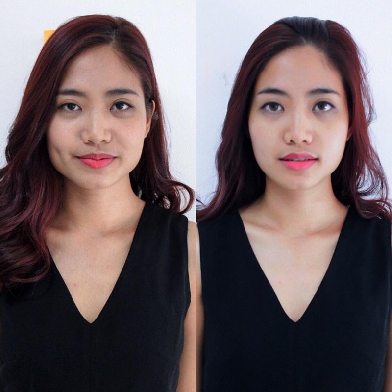 Ninh Hoàng Ngân nói rằng vì sợ biến chứng nên cô nói không với phẫu thuật thẩm mỹ mà chỉ dùng đến phương pháp nắn mặt để số đo gương mặt nhỏ lại.